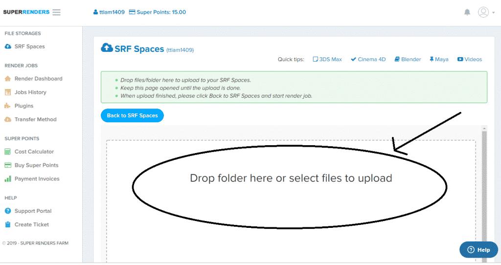Drop file upload