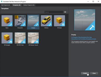 3ds Max Interactive Splash/Landing menu
