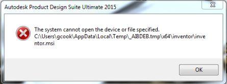 hệ thống không thể mở tệp hoặc thiết bị được chỉ định